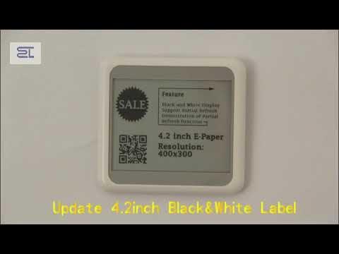 4.2inch bluetooth 5.0 digital price tag E-ink Electronic Shelf Label