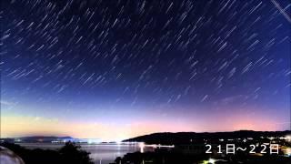 2012 オリオン座流星群微速度撮影 10月20日~22日