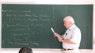 METU - Quantum Mechanics II - Week 1 - Lecture 1