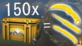 i opened 150 CSGO cases and this happened..