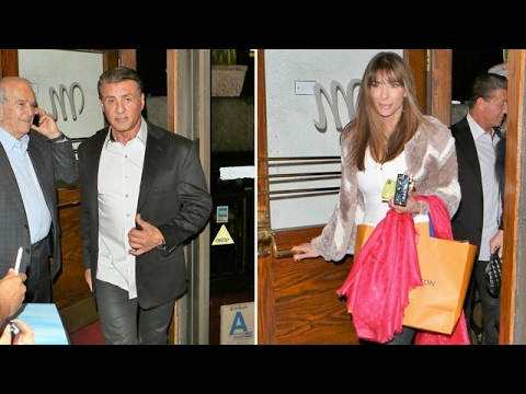 Sylvester Stallone And Wife Jennifer Flavin Enjoy Valentine's Day Dinner