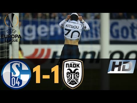 Schalke 04 vs PAOK Thessaloniki FC 1-1 Europa League All Goals & Highlights 22/02/2017