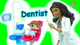 It's time for LOL Surprise baby dolls to go to the dentist. Dr. Barbie has a surprise patient still inside of the blind bag ball. Which baby will be inside? I hope they are not late for their tooth appointment! Enjoy this fun dental play video awesome cookie fans!FREE Subscription Never miss a video!  Click here : http://bit.ly/1RYkDF6Watch More Cookie Swirl C  Toy Videos from Playlist:Dental Office Visit Jumping On Teeth & Poop ? Roblox Video Game Play Escape The Evil Dentist Obby https://youtu.be/vMsmrx2h5nwKid Goes To Dr. Barbie Dentist To Brush, Clean Teeth & Blast Away Sugar Tooth Bugs in Game https://youtu.be/BwD7Fqkw2V4Elsa Goes To Dentist For Cavity In Tooth + Barbie Dental Let's Play Online Games https://youtu.be/SKFUVAE15gcDr. Barbie Baby Doctor - Twin Babies Are Born! Medical Doll + Twozies with Surprise Blind Bags https://youtu.be/2jqIVjL0spUGirl with Broken Arm - A Day with Pediatrician Doctor + Nurse Barbie Doll Medical Center Playsets https://youtu.be/bLkToFUvacwDoctor Barbie Doll Takes Care Of Playdoh Patient Dr. Drill N Fill Playset Video https://youtu.be/oHB9OjH7wJI◕‿◕Who Is Cookieswirlc - a unique channel bursting with fun, positive, happy energy featuring popular videos on Disney Frozen, Princesses, Littlest Pet Shop LPS, Shopkins, mermaids, My Little Pony MLP, LOL Surprise baby dolls, Lego, Barbie dolls, Play Doh, and much muchy more!!! Everything form stories, series, movies, playset toy reviews, hauls, mystery surprise blind bag openings, and DIY do it yourself fun crafts!www.cookieswirlc.com◕‿◕You rock cookie fans! I'll see you in my next video! - Cookie Swirl C