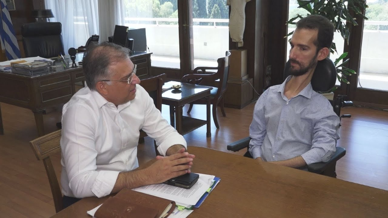 Συνάντηση  του ΥΠΕΣ Τάκη Θεοδωρικάκου με τον Στέλιο  Κυμπουρόπουλο