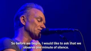 El mensaje de Sting a un año de los atentados de París