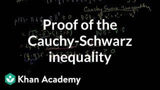 Proof of the Cauchy-Schwarz inequality | Vectors and spaces | Linear Algebra | Khan Academy