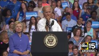 Dickson City (PA) United States  city photos : The moment VP Joe Biden turns on Donald Trump - Scranton, PA