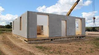 Монтаж каркасно-панельного дома