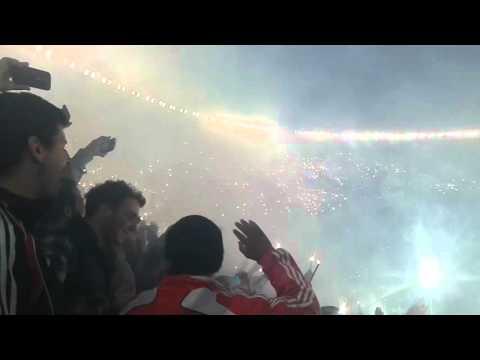 Fiesta y recibimiento vs ind del valle - Los Borrachos del Tablón - River Plate - Argentina - América del Sur