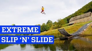 Extreme Slip 'n' Slide! | People are Awesome, clip giai tri, giai tri tong hop