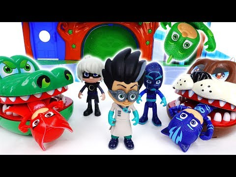 Romeo With Giant Bulldog & Croc~! Go PJ Masks - ToyMart TV