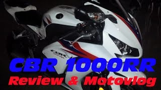 1. Honda CBR1000RR: Review and Motovlog featuring HP