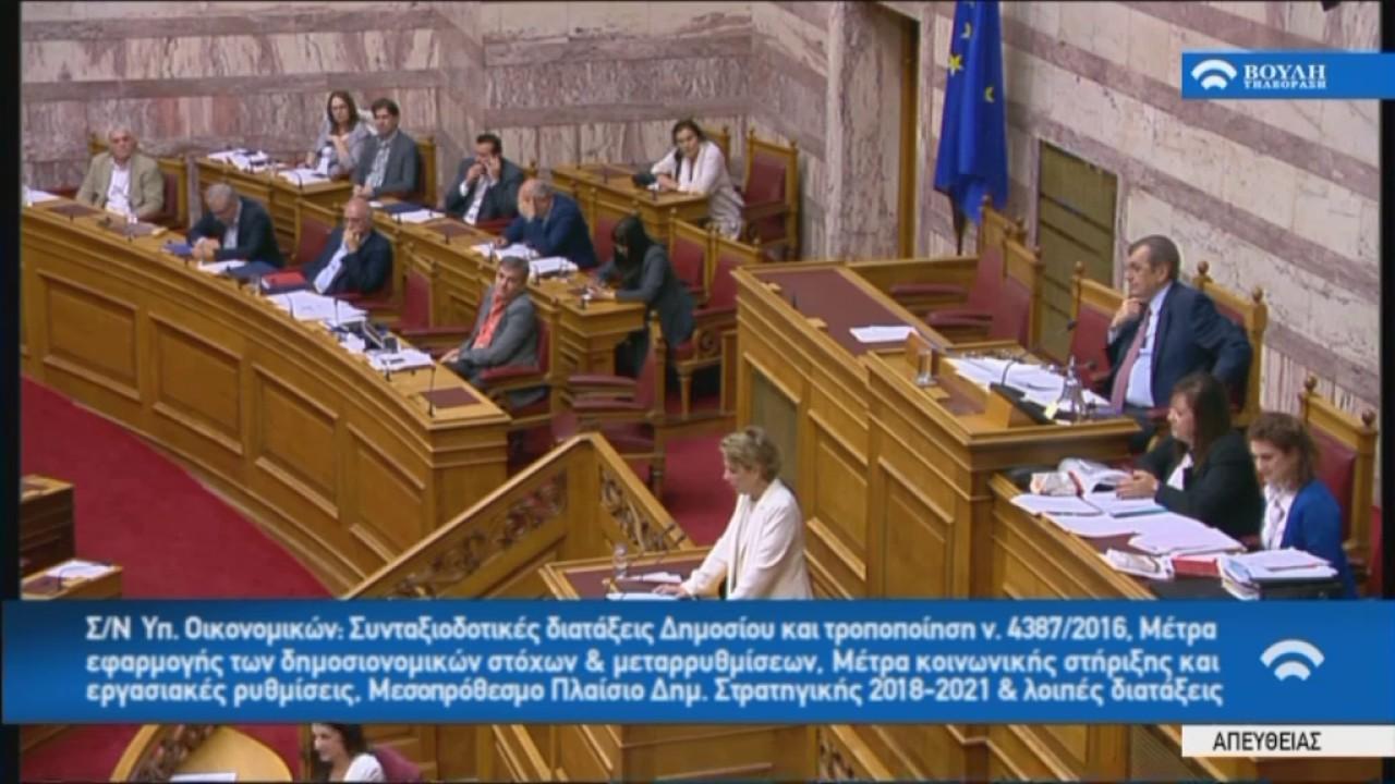 Όλγα Γεροβασίλη (Υπ. Διοικ. Ανασυγκρότησης)(Μέτρα εφαρμογής δημοσ.στόχων και μεταρρ.)(17/05/2017)