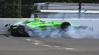 Video IndyCar - Indianapolis 500 - 2018 - Crash Compilation MP3, 3GP, MP4, WEBM, AVI, FLV Desember 2018