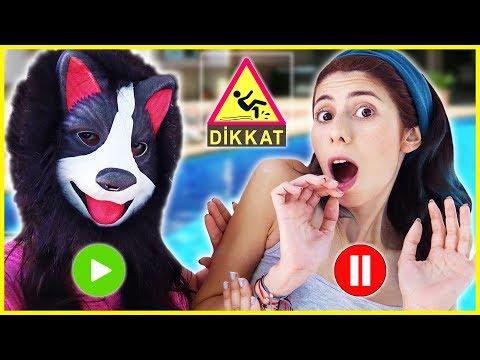 Pause Slime Challenge Kuki ve Havuz Eğlenceli Çocuk Videosu Dila Kent