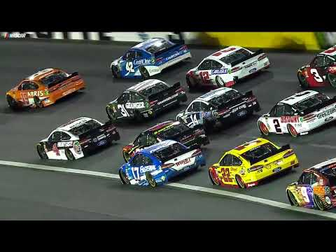 Eight cars caught up in big wreck during All-Star Race (видео)