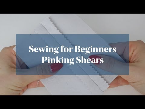 Finish Edges of Fabric: Pinking Shears (Sewing for Beginners) (видео)