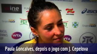 Paula Gonçalves analisa sua estreia no Brasil Tennis Cup