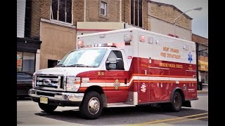West Orange NJ Fire Department EMS and Atlantic Ambulance Paramedics 65-19 Responding on Bloomfield Ave July 12th 2017