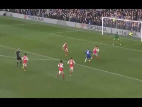 Eden Hazard Goal Chelsea vs Arsenal 2-0 Premier League