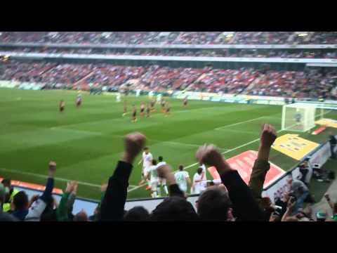 Hannover 96 - Werder Bremen 1:2 // Goldenes Tor durch Sebastian Prödl // Gästeblock // 30.03.2014 (видео)