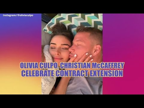 Christian McCaffrey celebrates contract extension with girlfriend Olivia Culpo