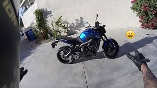 10. I BOUGHT A NEW YAMAHA FZ-09 -- First ride and reactions !!!