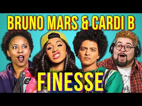 ADULTS REACT TO BRUNO MARS Ft. CARDI B - FINESSE