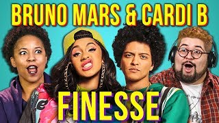 Video ADULTS REACT TO BRUNO MARS ft. CARDI B - FINESSE download in MP3, 3GP, MP4, WEBM, AVI, FLV January 2017