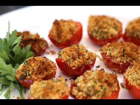 French Provencal tomatoes - (Tomatoes stuffed with garlic, parsley & breadcrumbs)