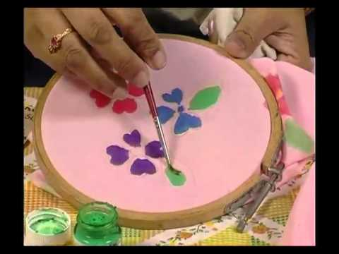 Fabric Painting 1 - Silk Material Frog.mp4