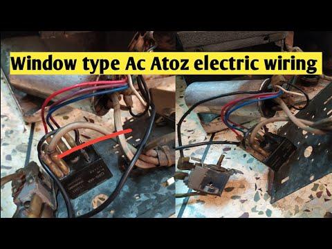 window type Ac Atoz electric wiring || how to window air conditioner atoz electric wiring
