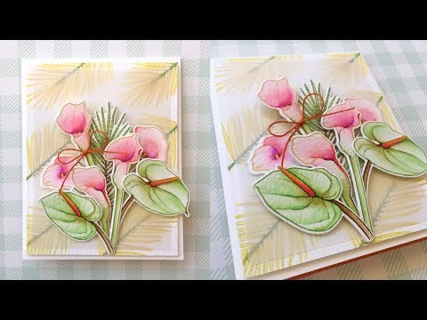 Watercolor w/Kathy Racoosin ft. MODERN CALLA LILIES stamps