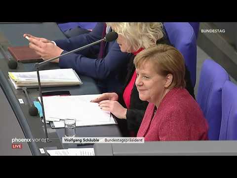 Befragung von Bundeskanzlerin Angela Merkel (CDU) im  ...
