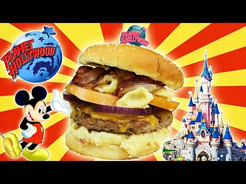 Mac and Cheese BURGER de Planet HOLLYWOOD en DISNEYLAND!