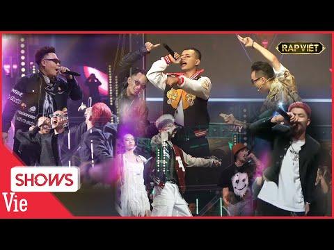 Tez - Yuno Bigboi - Lor - Đạt Dope - R.I.C - Tony D ĐỐT CHÁY sân khấu chung kết Rap Việt