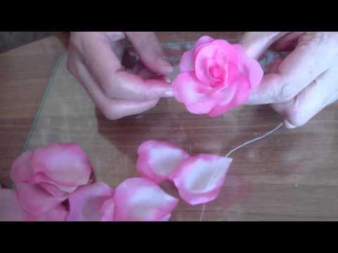 Роза из шифона своими руками мастер класс фото