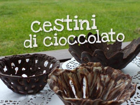 come si preparano i cestini di cioccolato per il dessert