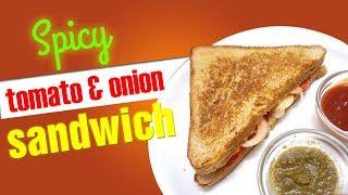 SPICY TOMATO & ONION SANDWICH   Quick & Easy Recipe   sandwich king