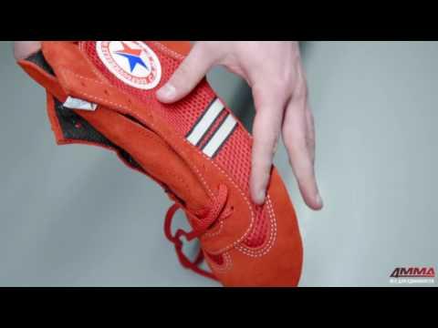 Фото:Борцовки для самбо Крепыш красные