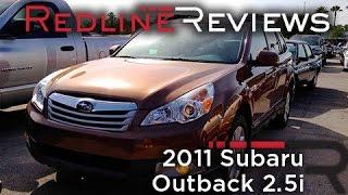 2011 Subaru Outback 2.5i Review, Walkaround, Start Up&Rev