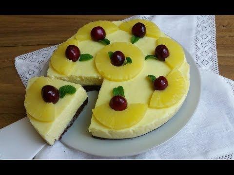 torta fredda all'ananas senza cottura - ricetta
