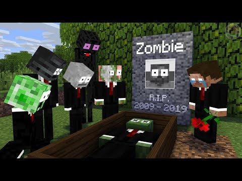 Monster School: RIP Zombie - Scary Minecraft Animation
