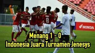 Video Menang 1- 0 Atas Vietnam, Timnas Indonesia Juara Jenesys Cup 2018 MP3, 3GP, MP4, WEBM, AVI, FLV Maret 2018