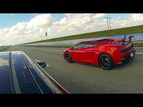 Tesla Model S P85D vs Lamborghini LP570-4 Super Trofeo Stradale in a drag race.