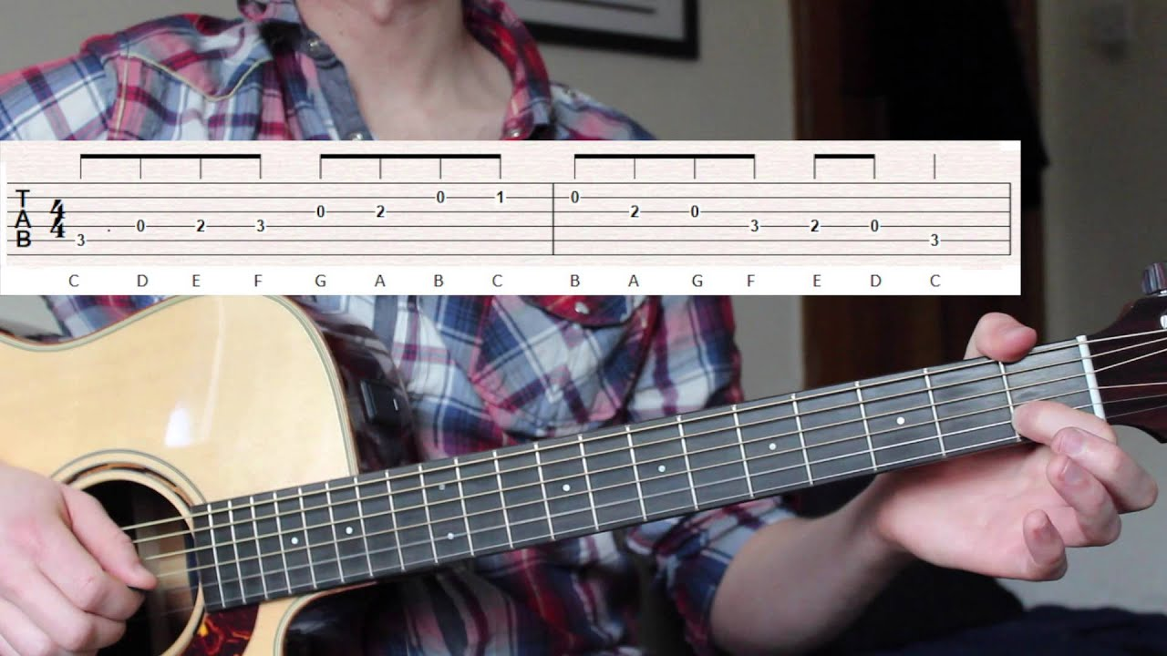 First EASY Scale for Acoustic guitar – C Major Scale EASY TRICK plus 10 Songs!
