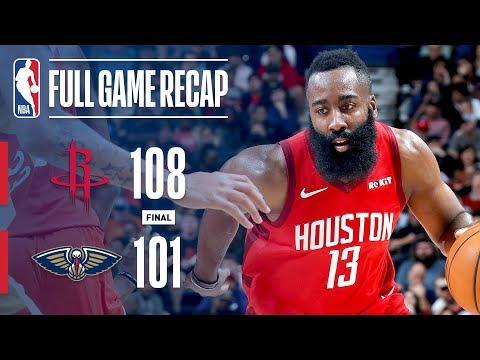 Video: Full Game Recap: Rockets vs Pelicans | Harden Drops 41