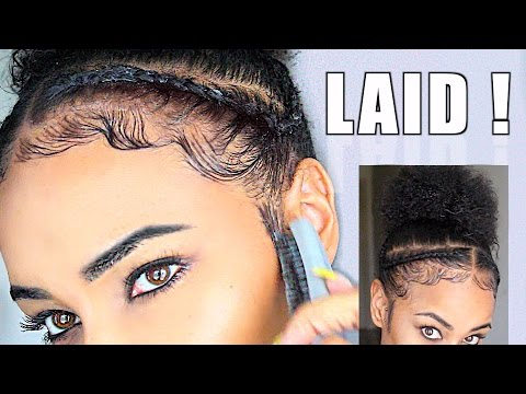 How To Slay & Lay Your Edges - Baby Hair Natural Hair Tutorial! (видео)