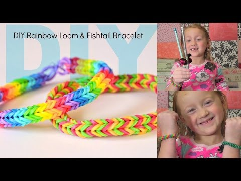 DIY Fishtail Rubberband Bracelet DIY rainbow loom