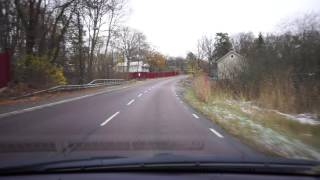 Farsta Sweden  city pictures gallery : Sweden, driving from bus stop Västergårdsvägen to Farsta Strand, November 2016